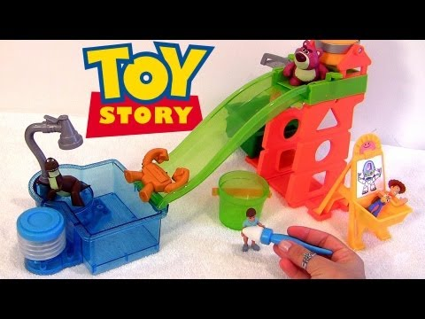 Color Changers Cars & Toy Story Slide N Surprise Playground Playset Colour Shifters Disney Pixar video