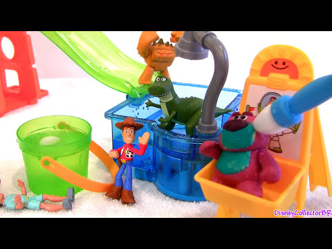 Color Changers Cars & Toy Story Slide n Surprise Playground Playset Co...