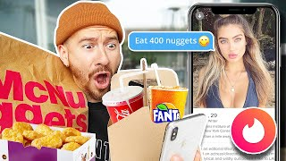 Letting My Tinder Matches Decide What I Eat For 24 Hours!! *IMPOSSIBLE FOOD CHALLENGE*