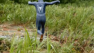 Black Spider-man cosplay zentai スパイダーマン #11