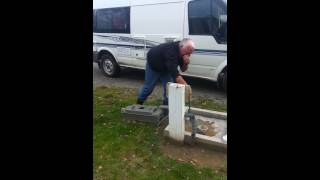 How to empty the camper portaloo !