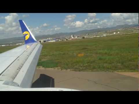 Landing at Chinggis Khaan International Airport, Ulaanbaatar, Mongolia
