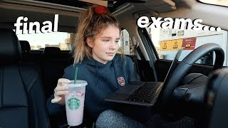 online student takes final exams...