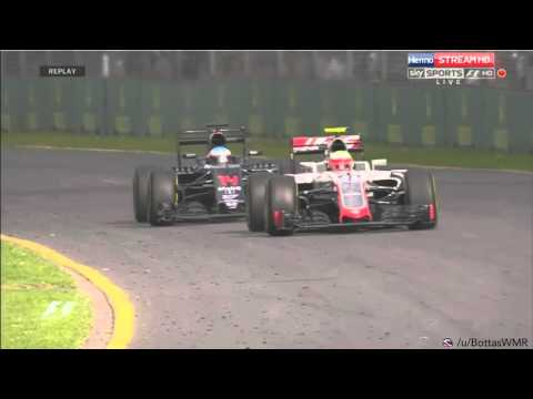 Fernando Alonso huge crash @ 2016 Australian F1 Formula One Grand Prix Melbourne