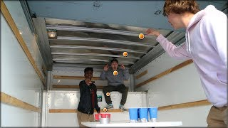 PLAYING BEER PONG IN A MOVING TRUCK! (Gone Wrong)