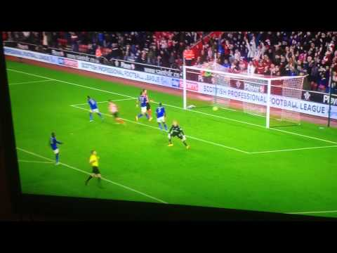 Shane Long knocking a Leicester player over with his goal celebration!