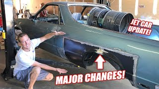 JET CAR UPDATE! Making a GIANT Air intake + Extending the El Camino!