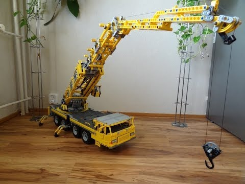 Lego Big Mobile Crane 2, motorized