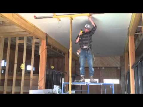 One man drywall install youtube for What is the best way to hang pictures on drywall