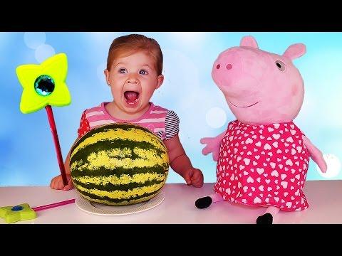 ✿ СВИНКА ПЕППА Магия для Детей НАБОР ФРУКТОВ ПЕППЫ Волшебство Дианы Peppa Pig Fruits Set and Magic