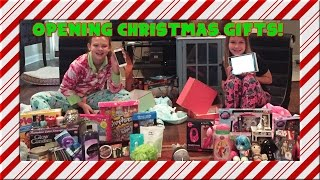 Opening Christmas Gifts - Christmas Morning 2015