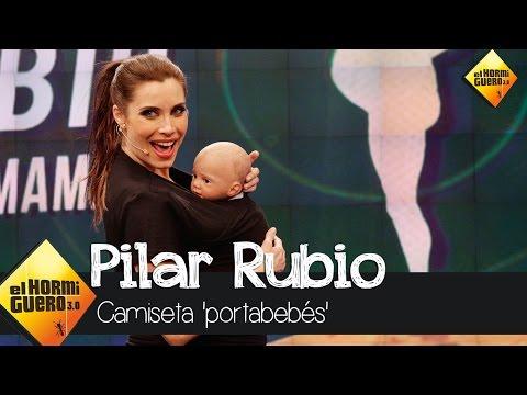 Pilar Rubio nos trae la camiseta 'portabebés' - El Hormiguero 3.0