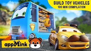 #appMink kids video: Have Fun and  Learn How to Build Toy Vehicles with appMink & Friends