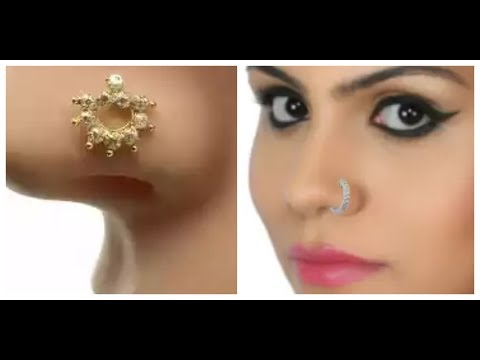 White Gold and Dimont Nose Pin Design for Younger Girls 2018 Latest Design