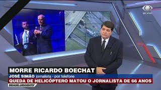 José Simão chora ao falar de Boechat