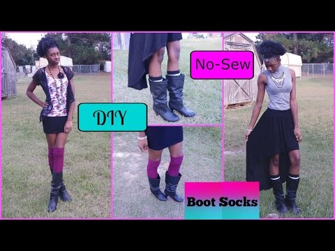 DIY No-Sew Boot Socks/ Leg warmers + Outfit Styling