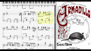 Armadillo Rag by Clarence Brown (1911, Ragtime piano)