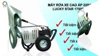 Máy Rửa Xe Cao Áp 1750PSI cho tiệm rửa Ô tô [Công ty Lucky]
