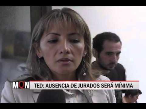 26/03/2015-19:13 AUSENCIA DE JURADOS SERA MINIMA