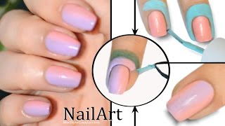 Ombre Gradient Nails Tutorial / Маникюр Омбре или Градиент на ногтях не пачкая кутикулу
