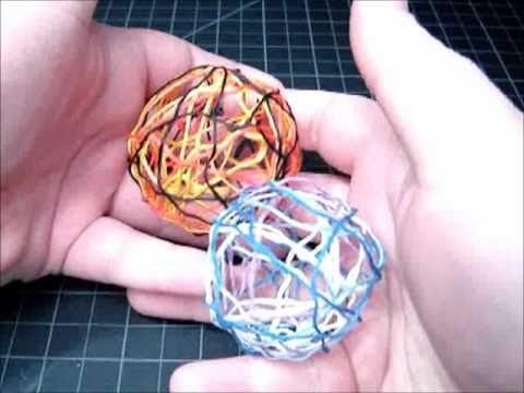  Decorative Accent Balls - Craft Tutorial 5 (Recycling Embroidery Floss/Craft Thread)