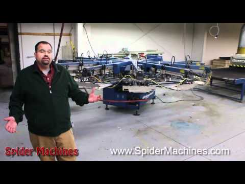 M&R - Used Screen Printing Equipment by Robert Barnes of Spider Machines