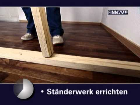 finnwall holz rahmensystem montagefilm youtube. Black Bedroom Furniture Sets. Home Design Ideas