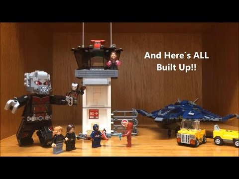 LEGO Marvel Giant Man and Civil War Minifigures Review from Airport Battle Set
