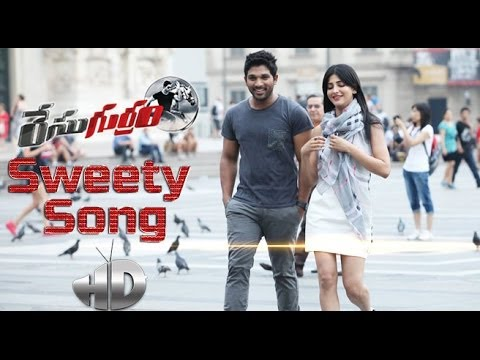 Race Gurram Song Trailer - Sweety Song - Allu Arjun, Shruti Haasan, Surender Reddy video