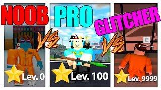 NOOB vs PRO vs GLITCHER in MAD CITY! *FUNNY* (Roblox)