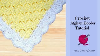 Crochet Afghan Shell Border - C2C