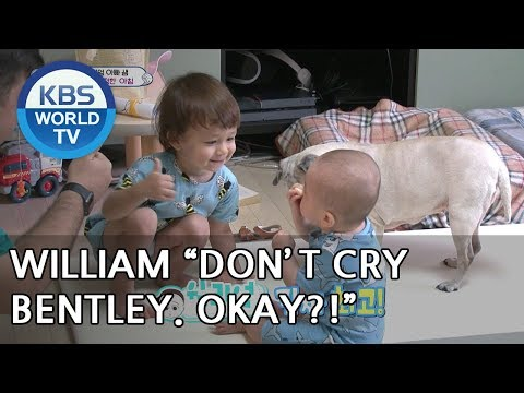 """""""Bentley, eat this!"""" William gives his snack to his brother♥ [The Return of Superman/2018.07.01]"""