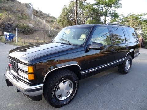 GMC Yukon Tahoe SUV 4x4 1 Owner Chevrolet Tahoe SLT XL Blazer 5.7L 350 Off Road Truck Video