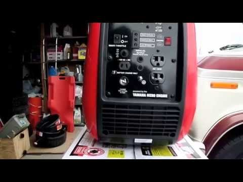 Smarter Tools Yamaha Inverter Generator Testing on AC & Microwave in RV CamperVan & Info