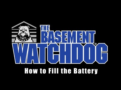 How to fill a Basement Watchdog Standby Battery. Sump pump installation tips