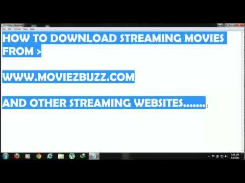 Tutorial on How to Download Streaming Movies from MoviezBuzz.com