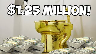 "thieves steal GOLDEN TOILET named ""America"" from palace - LEO recap"