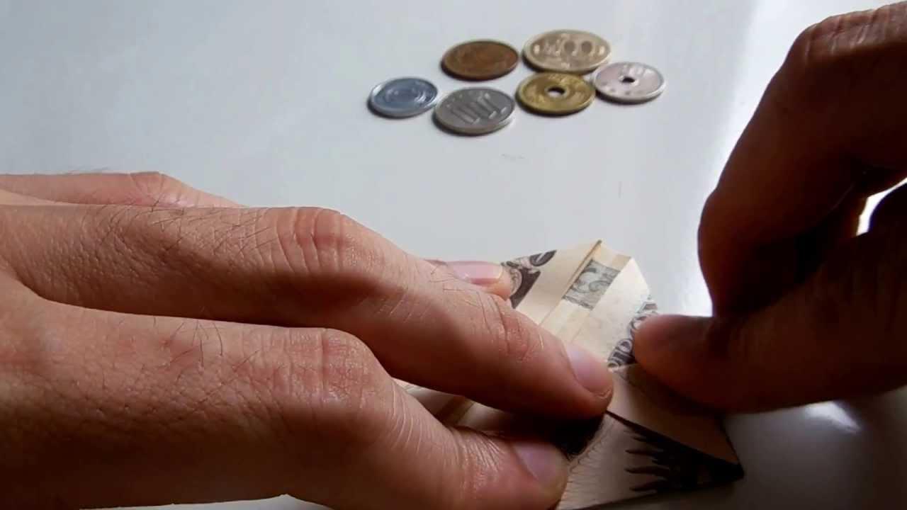 すべての折り紙 折り紙 折り方 バラ : - Money/Dollar Origami - お札折り紙 ...