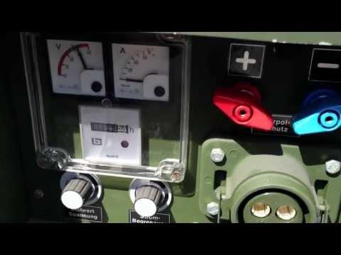 MESSUNG 1.9KW DIESEL HATZ BUNDESWEHR STROMGENERATOR NOTSTROM STROMAGGREGAT- BW SILENT S/N 15760