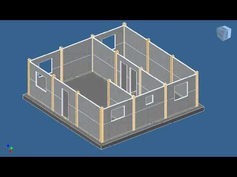 Construcción casas de madera. Infografía