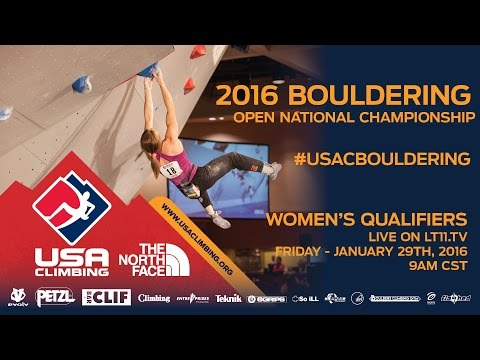 Bouldering National Championships • Women Qualifiers • 1/29/16 • LIVE 9AM CST