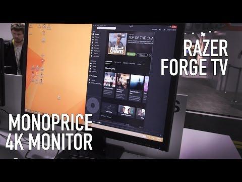 Monoprice 4K Monitor, 3D Printer & Razer Forge TV (Streaming)   CES 2015