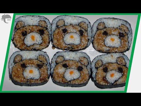 Video Receta: Como preparar kazari Maki / Maki para niños