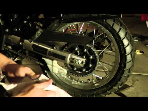 Changing the Rear Tire on a 2009 KLR 650 Part 2 of 2