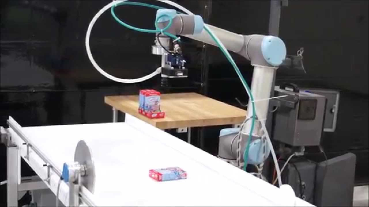 Ur5 Universal Robot Line Tracking With Vision Crum