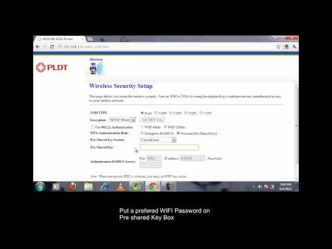 PLDT Prolink-How to configure WiFi