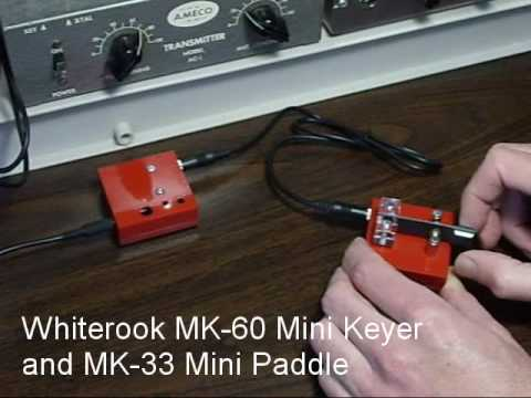 MK-33 Mini Single Lever Paddle | MK-60 Keyer | QRP Portable