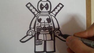 """download lagu Como Dibujar A Deadpool """"lego"""" / How To Draw gratis"""