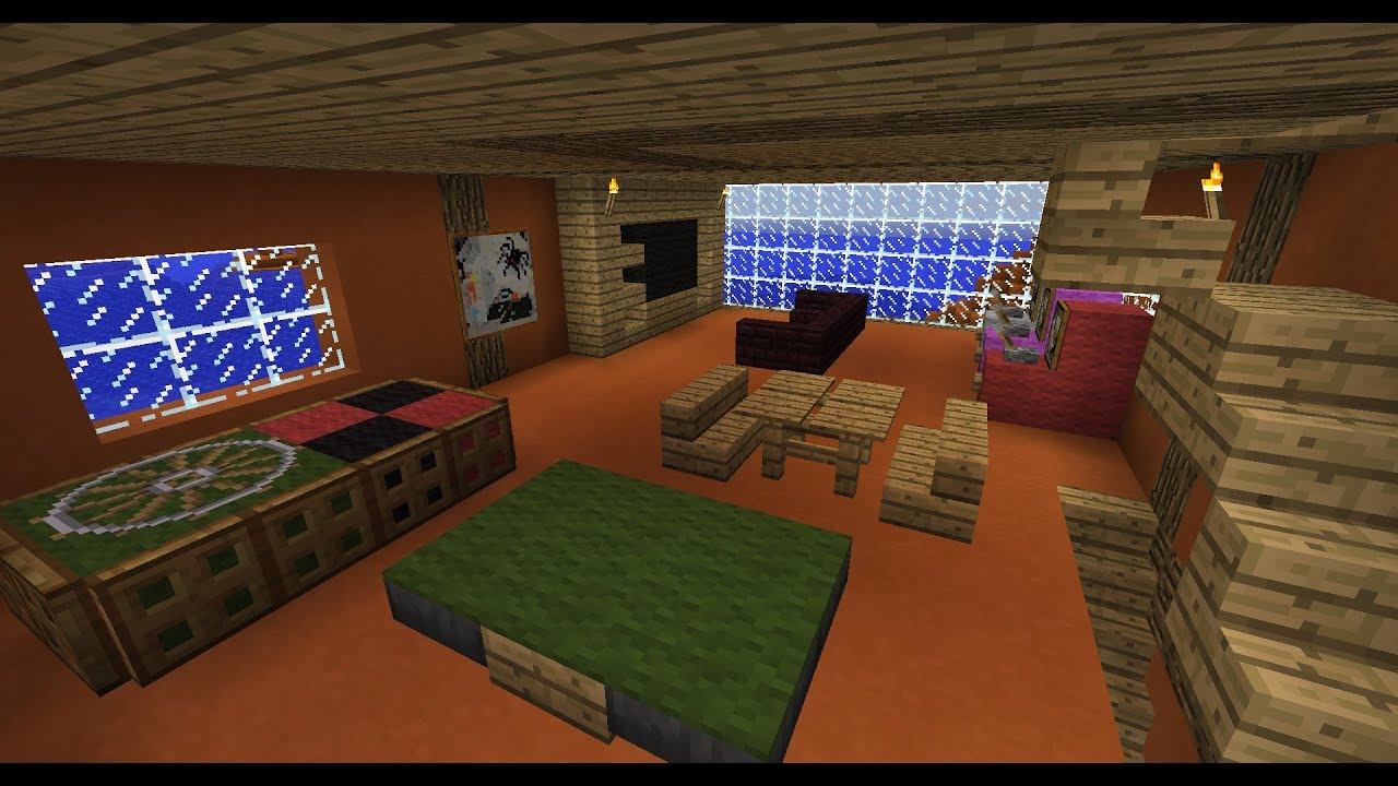 tuto deco minecraft salle de jeux dans minecraft fr hd. Black Bedroom Furniture Sets. Home Design Ideas