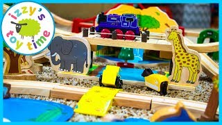 Bigjigs Rope Bridge and Lion's Den! Thomas and Friends and Fun Toy Trains for Kids!